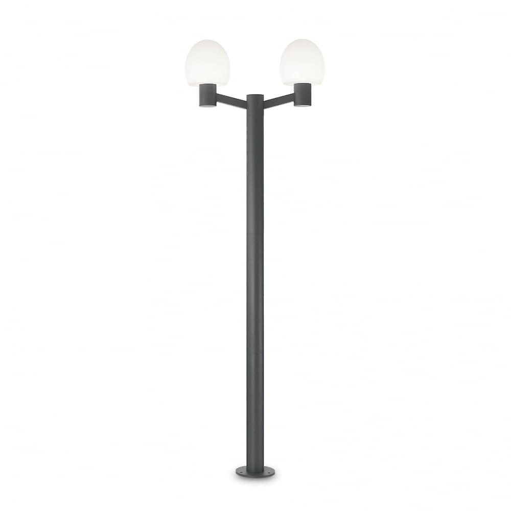 Ideal Lux Concerto 2 Bulb Post Light Anthracite