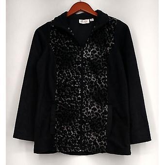 Denim & Co. Fleece Jacket Active Fleece Zip Front Gray A238352