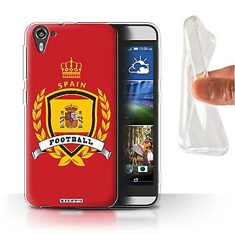 STUFF4 Gel/TPU Case/Cover for HTC Desire 826/Spain/Spanish/Football Emblem