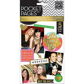 Me & My Big Ideas Pocket Pages Clear Stickers 6 Sheets/Pkg-Big City Brights PPS-44