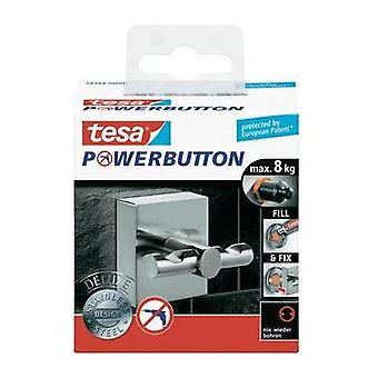 Tesa® Powerbutton Deluxe Hook Square, Stainless Steel