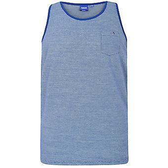 D555 Righe sottili blu Canotta con tasca