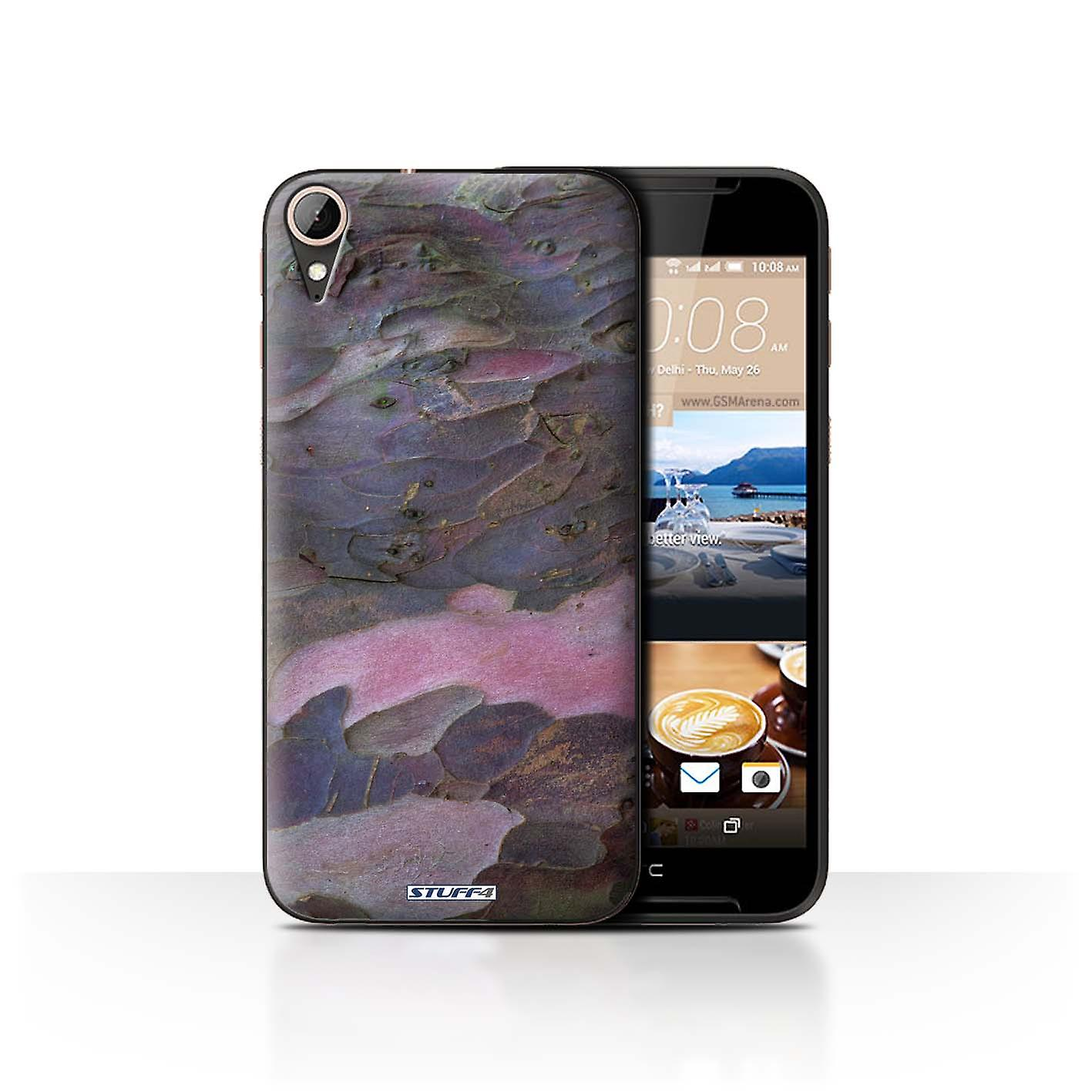 STUFF4 Case/Cover for HTC Desire 830/Curved/Purple/Tree Bark