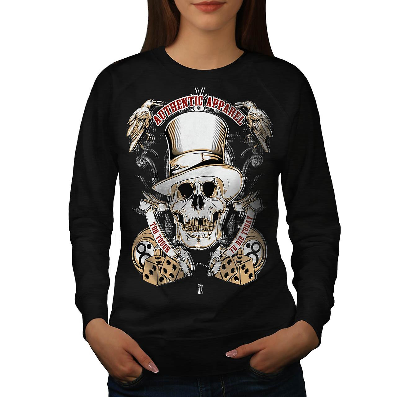 Authentic Dead Casino Game Head Women Black Sweatshirt | Wellcoda