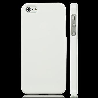 TPU rubber cover for iPhone 5 (white)