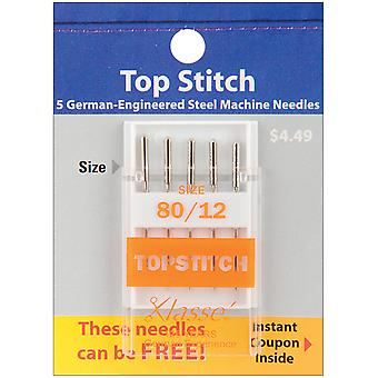 Klasse Topstitch Machine Needles-Size 12/80 5/Pkg A5118-8012
