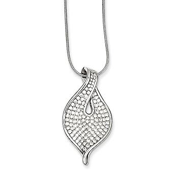 Sterling Silver and Cubic Zirconia Necklace - 18 Inch