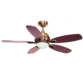 Ceiling Fan PHOENIX antique brass with light 107 cm / 42""