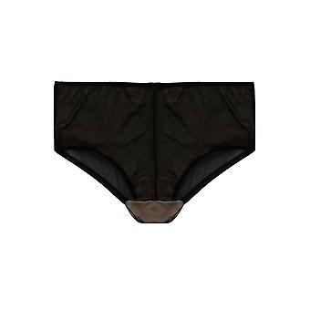 Hete roze & zwarte Fishnet Lace Slip
