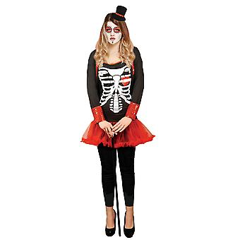 Adult's Womens Halloween Day of the Dead Fancy Dress Costume