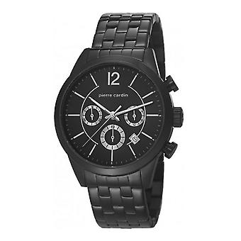 Pierre Cardin mens watch watch Chrono TROCA black PC106591F11