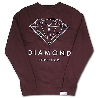 Diamond Supply Co Brilliant Diamond Sweatshirt Burgundy