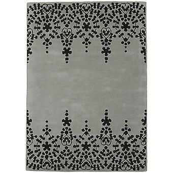 Matrix Grey Baroque Wool  Viscose Vintage Rug