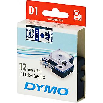 DYMO D1 tapes standard 12 mm, blue on white, 7 m roll (45014)