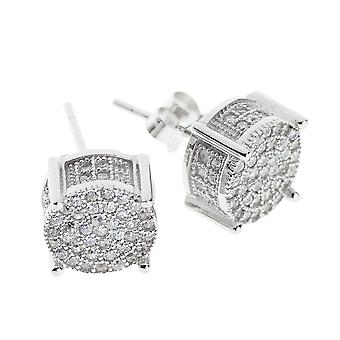 925 Sterling MICRO PAVE Ohrstecker - SPRING 10mm