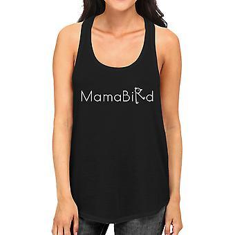 MamaBird Women's Black Sleeveless Tank Top Simple Letter Printed
