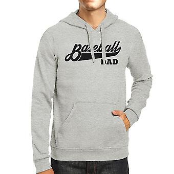 Baseball Dad Unisex Grey Hoodie Unique Cute Gifts From Daughters