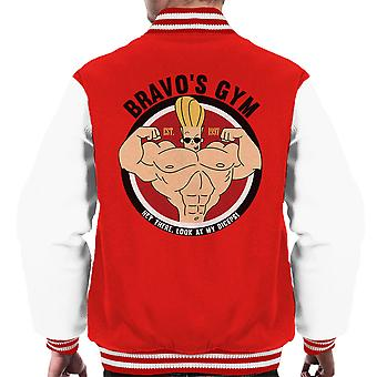 Johnny Bravo Bravos Gym Men's Varsity Jacket