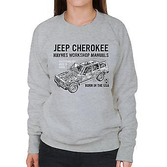 Haynes proprietários Workshop Manual Jeep Cherokee preto de moletom feminino