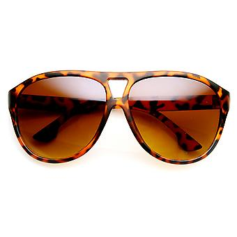 Modern Fashion Oversized Matte Finish Plastic Aviator Sunglasses