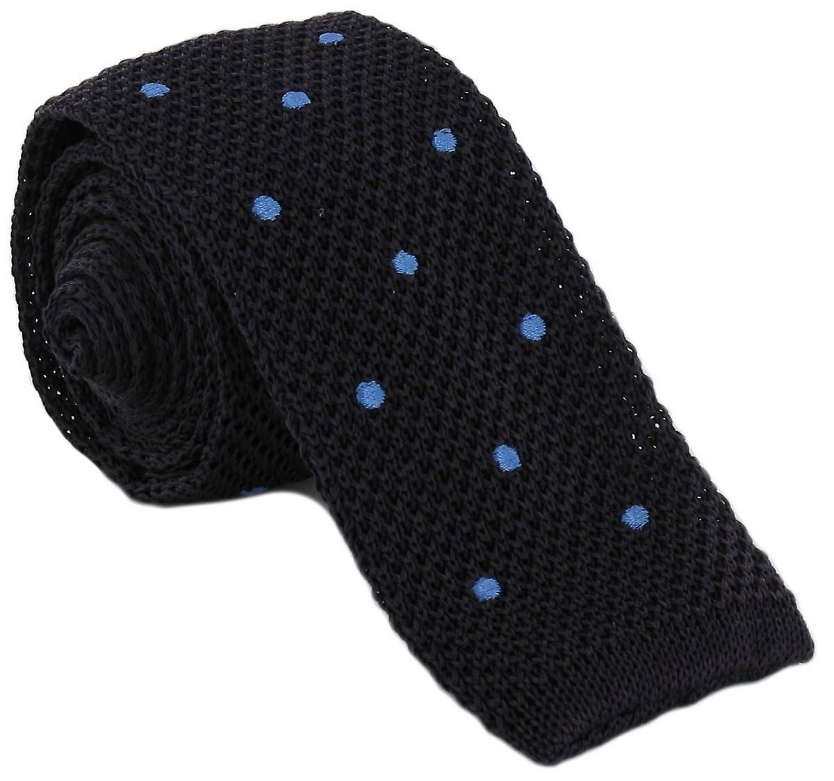 Michelsons of London Spot Design Tie - Navy/Blue