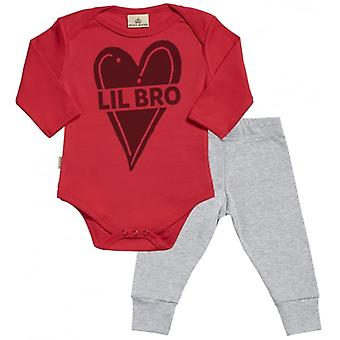 Spoilt Rotten Lil Bro Babygrow & Jersey Trousers Outfit Set