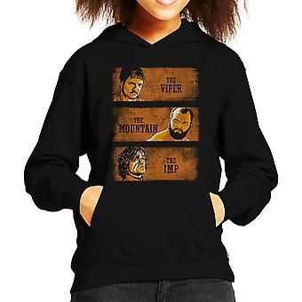 The Viper The Mountain And The Imp Game Of Thrones Kid's Hooded Sweatshirt