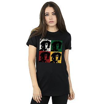 Bob Marley Women's Colour Blocks Boyfriend Fit T-Shirt