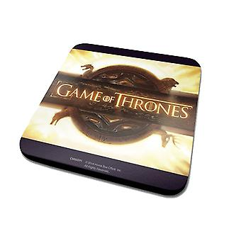 Game Of Thrones Coaster Opening Logo Official New Black (10cm x 10cm)