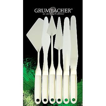Grumbacher Palette Knife Set 6 Pkg Gpks6