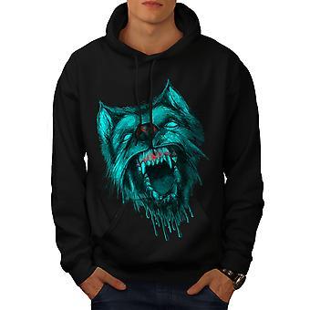 Loup garou loup peur hommes BlackHoodie | Wellcoda