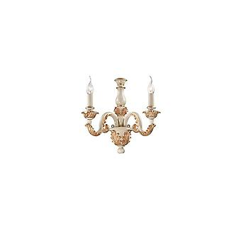 Ideal Lux - Giglio Gold And White Finish Wall Light Idl075280