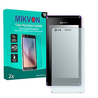 Sony Xperia C2005 Screen Protector - Mikvon Clear (Retail Package with accessories)