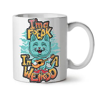 Ima Freak Weirdo Cute NEW White Tea Coffee Ceramic Mug 11 oz | Wellcoda