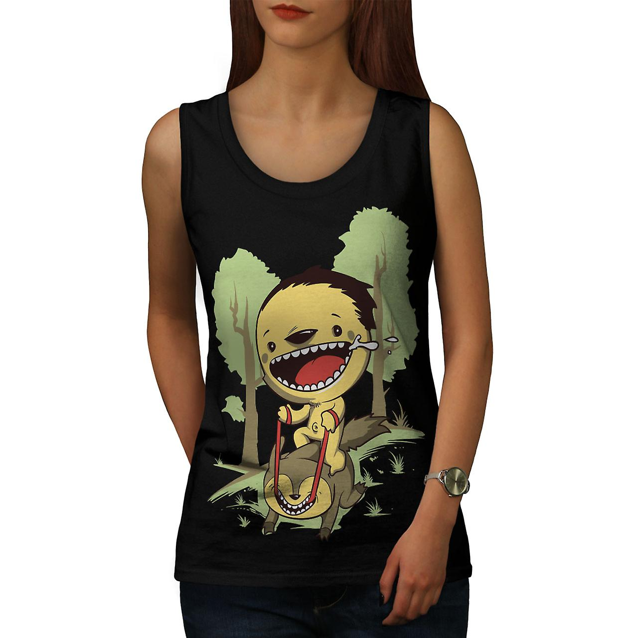 Cartoon Cute Forest Funny Women BlackTank Top | Wellcoda