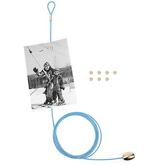 Blue Magnetic Cable Photo or Card Holder (8 magnets)