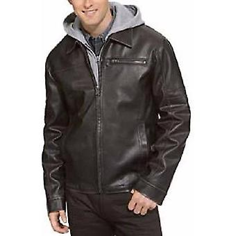 Men's Classic Hooded Leather Jacket