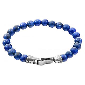 Anker und Crew Outrigger Sodalith Stein Armband - blau/silber