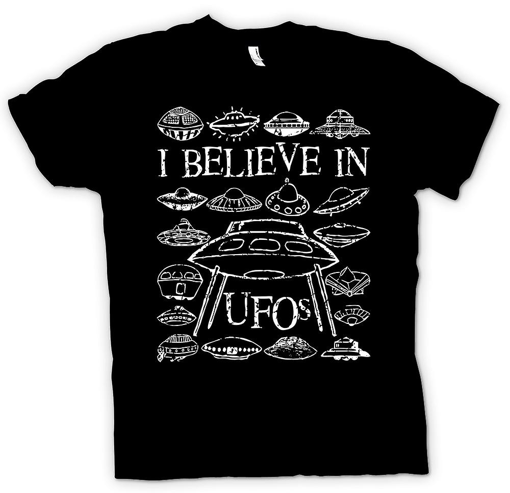 Kids T-shirt - I Believe In UFOs - Funny