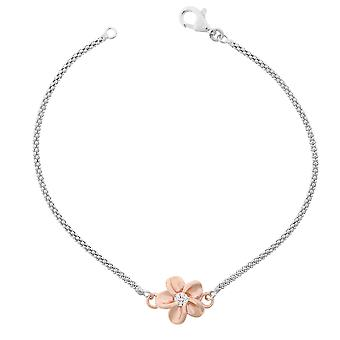 Orphelia Silver 925 Bracelet 18Cm Rose-Gold Flower Zirconium  ZA-7105