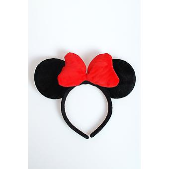 Hair accessories  Minnie Mouse ears with red bow Luxe