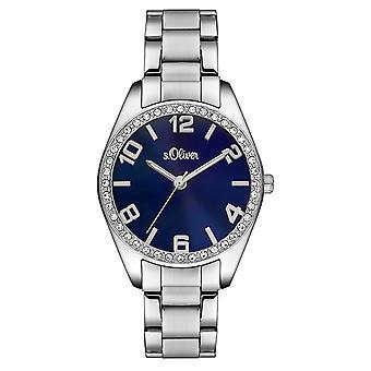 s.Oliver kvinners watch armbåndsur rustfritt stål SO-3152-MQ