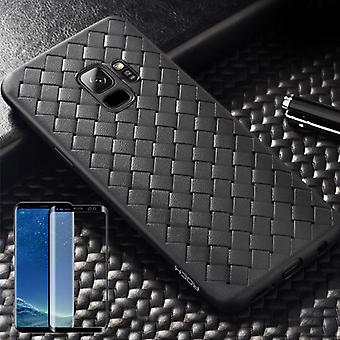 For Samsung Galaxy S9 original ROCK silikone case etui case sort + 4 d glas