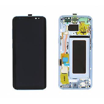 Samsung Galaxy S8 ekran LCD SM-G950 zestaw ramki - niebieski