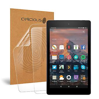 Celicious Vivid Invisible Glossy HD Screen Protector Film Compatible with Amazon Fire HD 8 (2016) [Pack of 2]
