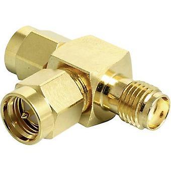 Delock Wi-Fi Antennen Y Adapter [2x SMA Stecker - 1x SMA-Buchse] 0 m Gold