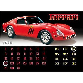 Феррари 250Gto вечную стальной настенный календарь (красный/черный)