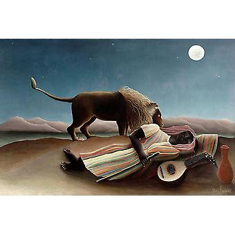 The Sleeping Gypsy 1897 Poster Print by Henri Rousseau