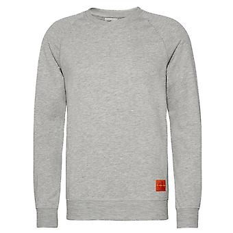 Calvin Klein Mens Monogram Lounge Sweatshirt - Grey Heather