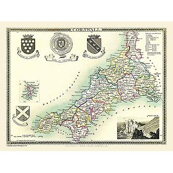 Map of Cornwall 1836 by Thomas Moule 1000 Piece Jigsaw Puzzle (jhg)
